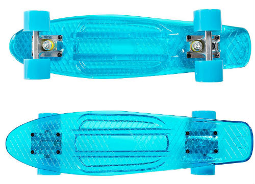 blue high bounce penny board