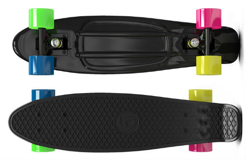 black skatro mini cruiser penny board